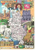 CARTE GEOGRAPHIQUE - Département Du RHONE - Par PINCHON - Landkarten