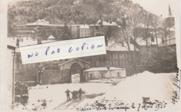SALINS Les BAINS -  La Ville Sous La Neige En 1935 ( Carte-photo  ) - France