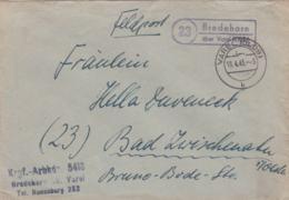Very Late German Feldpost WW2: POW Guard In Kriegsgefangenen Arbeitskommando 5418 In Bredehorn (Havel) - Militaria