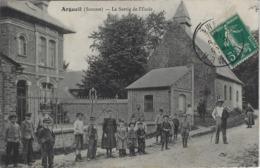 Argueil Somme (80) - La Sortie De L'école - France