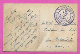 Carte Postale ( MAINZ ) En Franchise  Cachet Ancre Marine Nationale FLOTTILLE DU RHIN - Marcofilie (Brieven)