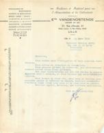 FACTURE 1956 ETS VANDENOSTENDE LILLE 37 RUE D'ARCOLE - 1950 - ...