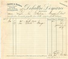 FACTURE DE 1907 DELATTRE LEMARCE LILLE QUAI VAUVAN CHARBONS ET COKES - 1900 – 1949