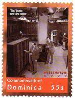 DOMINICA 1v MNH** - ENIAC  World's First Computer Computing Informática Informatique IT Computadora - Computers