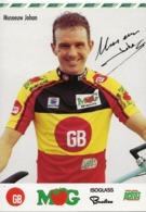 CARTE CYCLISME JOHAN MUSEEUW CHAMP. BELGIUM SIGNEE TEAM GB-MG 1993 - Cyclisme