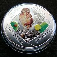 Aruba 5 Florin 2012 Owl Shoco  Silver Netherland Antilles - [ 4] Colonies
