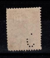 Perfore - Perforation à Identifier Sur YV 116 Mouchon Oblitere - Perforés