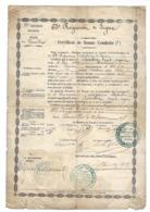 Certificat De Bonne Conduite 1853 - 63ème Régiment De Ligne - Place De Versailles - 28 X 20 Cm - Documents