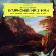 * LP *  SCHUBERT : SYMPHONIEN Nr. 3 & 4 - BERLINER PHILHARMONIKER / KARL BÖHM (Dui EX/EX) - Klassiekers