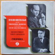 * LP *   KHACHATURIAN: VIOLIN CONCERTO - DAVID OISTRAKH (Eng 1955 EX/EX-) - Classical