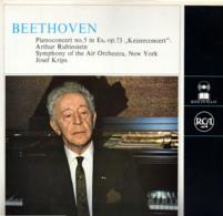 "* LP *  BEETHOVEN: PIANOCONCERT No.5 "" KEIZERCONCERT""  - RUBINSTEIN / SYMPHONY OF THE AIR ORCH. / KRIPS - Klassiekers"