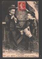 Beuzec - Une Chopine De Cidre Pour Le Musicien - Enfants - 1909 - Beuzec-Cap-Sizun