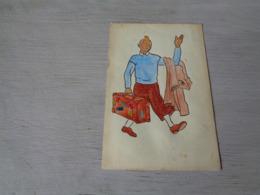 Strip ( 4 ) Strips   Kuifje  Tintin Dessiné Par Un Amateur - Bandes Dessinées