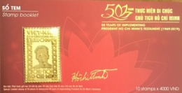 Viet Nam Vietnam Special Booklet 2019 With Gold Plated Stamp : 50th Years Of Pres. Ho's Testament - LIMIT EDITION - Vietnam