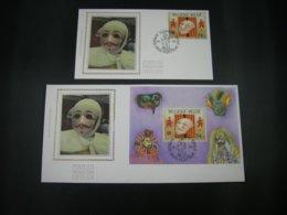 """BELG.1995 2584 & BL70 FDC's Soie/zijde (Kortrijk) : """"Philatélie Promotie """" - FDC"""