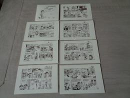 Strip ( 6 ) Strips   7 Postkaarten Van Guust Flater Door Franquin  - Uitgave S D K 1980 - Bandes Dessinées