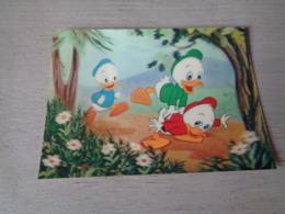Strip ( 7 ) Strips   3 D Postkaart   Walt Disney - Bandes Dessinées