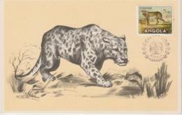 Angola Carte Maximum 1953 Léopard 357 - Angola