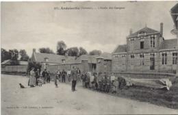 Andainville- (Somme)- L'Ecole De Garçon - Frankreich