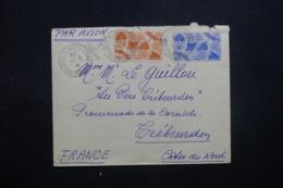 CÔTES DES SOMALIS - Enveloppe De Djibouti Pour Trébeurden En 1946, Affranchissement Plaisant - L 42720 - Côte Française Des Somalis (1894-1967)