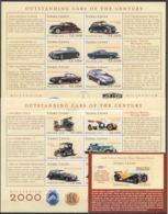 A209 SIERRA LEONE OUTSATNDING CARS OF THE CENTURY MILLENNIUM 2000 !! 2SH+BL MNH - Cars