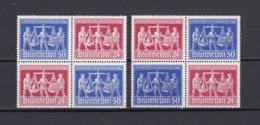 Alliierte Besetzung - 1948 - Michel Nr. V Zd 1+V Zd 2 - Viererblock - Postfrisch - 80 Euro - Amerikaanse, Britse-en Russische Zone