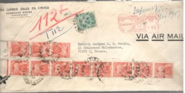 22852 - Pour La France Avec  12 Timbres Taxe - 1937-1952 Règne De George VI