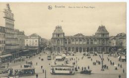 Brussel - Bruxelles - Gare Du Nord Et Place Rogier - Ern. Thill Serie 1 No 21 - Chemins De Fer, Gares