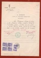TRIESTE AMG FTT  9 OTTOBRE 1951  DOCUMENTO  ATTESTATO DEL COMUNE CON  MARCHE DA BOLLO E MARCA MUNICIPALE  FIRME E TIMBRI - 7. Triest
