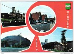 Carte Postale 62. Oignies  Fosse N° 9  Mine Très Beau Plan - France