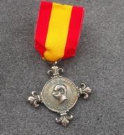 Medaglia Volontari Di Cuba Alfonso XII° Di Spagna 1882 Con Nastrino - Medaglie