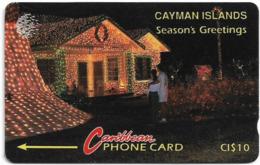 Cayman Isl. - Season's Greetings, 10CCIA, 1994, 10.000ex, Used - Isole Caiman