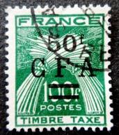 Réunion Obl. Taxe N° 44 - Gerbes De Blé - Timbre De France Surchargé CFA - Portomarken
