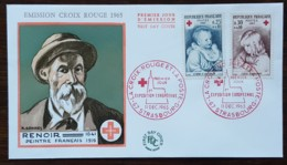 FDC 1965 - YT N°1466, 1467 - CROIX ROUGE  - STRASBOURG - FDC