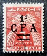 Réunion Obl. Taxe N° 38 /  39 - Gerbes De Blé - Timbre De France Surchargé CFA - Postage Due