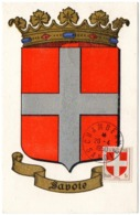 HERALDIQUE = 73 CHAMBERY 1950 = CARTE MAXIMUM + CACHET ROND + N° 836 ARMOIRIES De SAVOIE - Maximum Cards