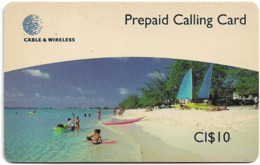 Cayman Isl. (C&W) - Seven Mile Beach, Prepaid 10CI$, Exp. 12.1999, Used - Kaimaninseln (Cayman I.)