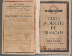 22863 - Carte D'identité ETAT FRANCAIS - Marcophilie (Lettres)