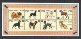 A241 SIERRA LEONE DOGS FAUNA DOMESTIC ANIMALS PETS YEAR OF THE DOG KB MNH - Honden