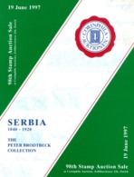 98. Corinphila Auktion 1997 - Serbien 1840 - 1920 - Auktionskataloge