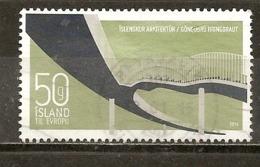 Islande Iceland 2014 Pont Bridge Obl - 1944-... República