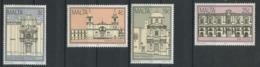 MALTE 1992 N° 872/875 ** Neufs MNH Superbes C 6 € Monuments Historiques Eglise Sainte Famille Cathédrale Auberge - Malta