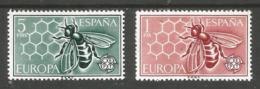 SPAIN - 1962 Europa  MNH **  SG 1509-10  Sc 1125-6 - 1961-70 Neufs