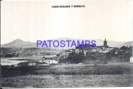 120786 SPAIN ESPAÑA & FRANCE FRANCIA FUENTERRABIA Y HENDAYA VISTA PARCIAL POSTAL POSTCARD - Espagne
