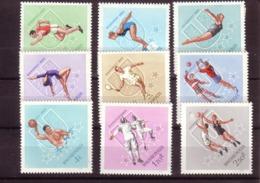 HONGRIE 1965 CHAMPIONNATS UNIVERSITAIRES  Yvert: 1754/62 NEUF MNH** - Unused Stamps