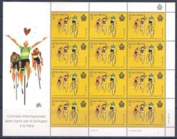 San Marino (2019) International Day Of Sport For Development And Peace (cycling) - Full Sheet (MNH) - Cycling