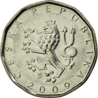 Monnaie, République Tchèque, 2 Koruny, 2009, TTB, Nickel Plated Steel, KM:9 - Repubblica Ceca