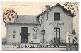 Breuil-Magne-Loire.....la Gare.....(chef De Gare)....1908... - Altri Comuni