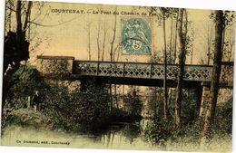 CPA COURTENAY-Le Pont Du Chemin De Fer (264980) - Courtenay