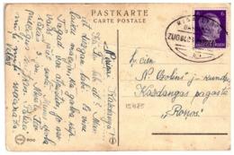 Latvia Pc In German Time With TPO RIGA - LIBAU BAHNPOST ZUG 8403 (b) 23.12.1943. - Lettonie